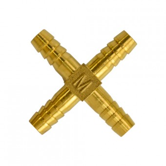 Штуцер крестовой (блистер, ф9/12 мм, елочка 4-х ход., GasFit)