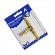 Штуцер тройник (блистер, ф6/9 мм, GasFit)